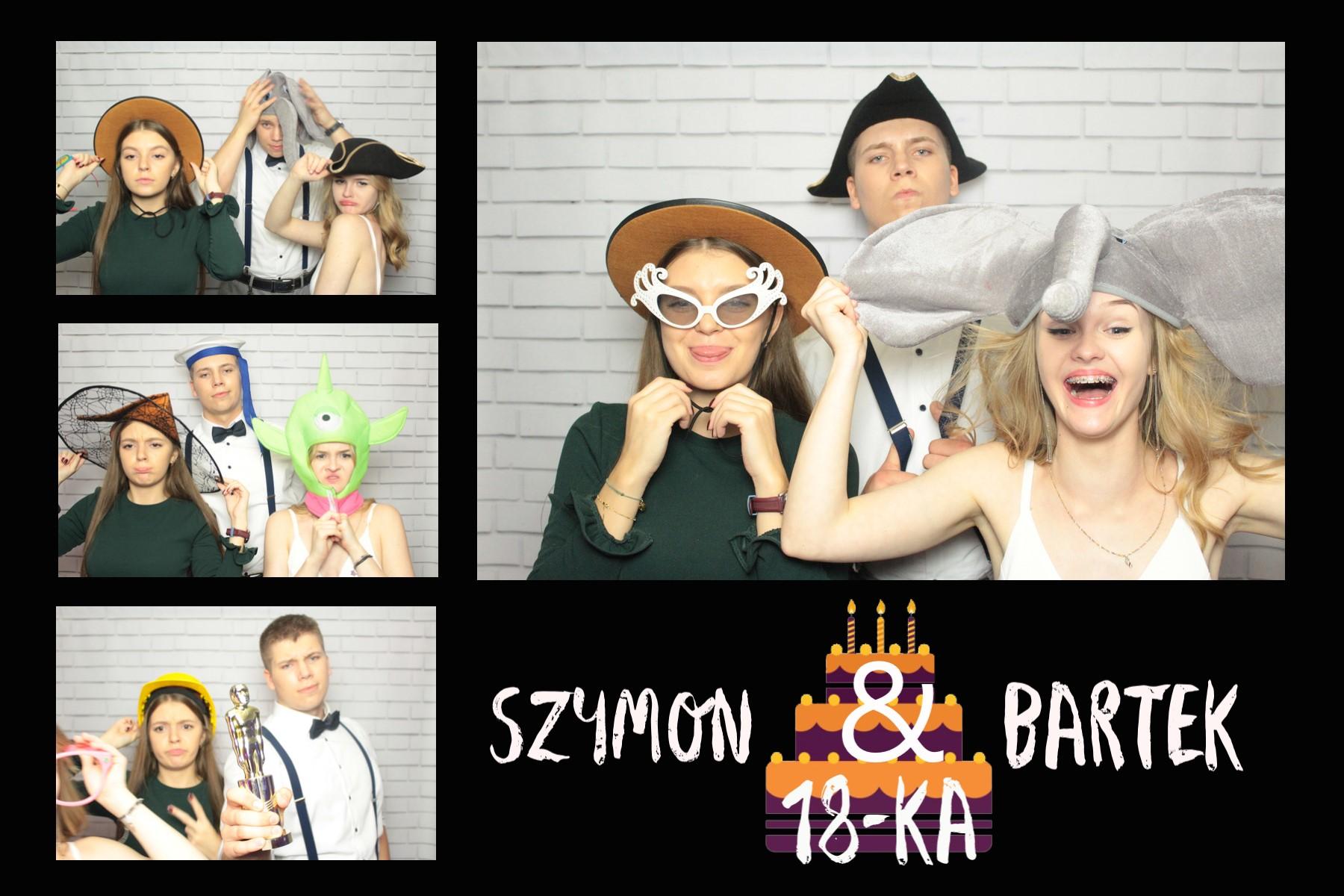 zdjęcie z fotobudki na imprezie urodzinowej