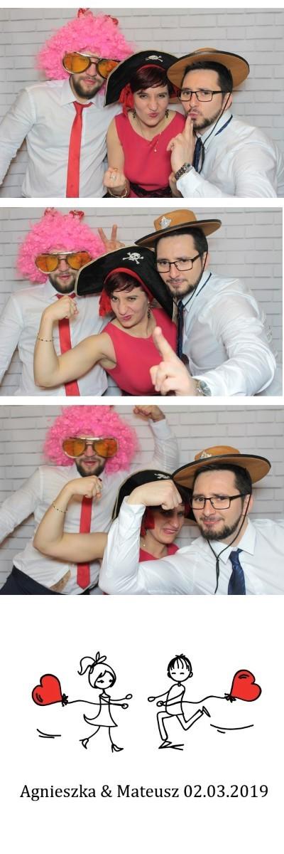 wydruk zdjęcia z fotobudki na wesele