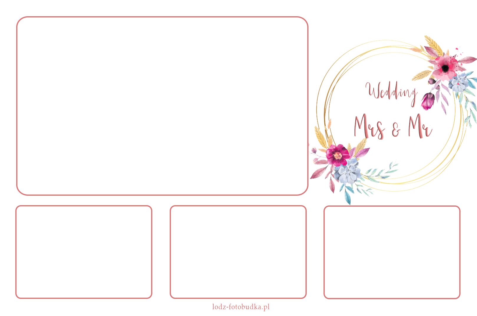 projekt wydruk z fotobudki na wesele