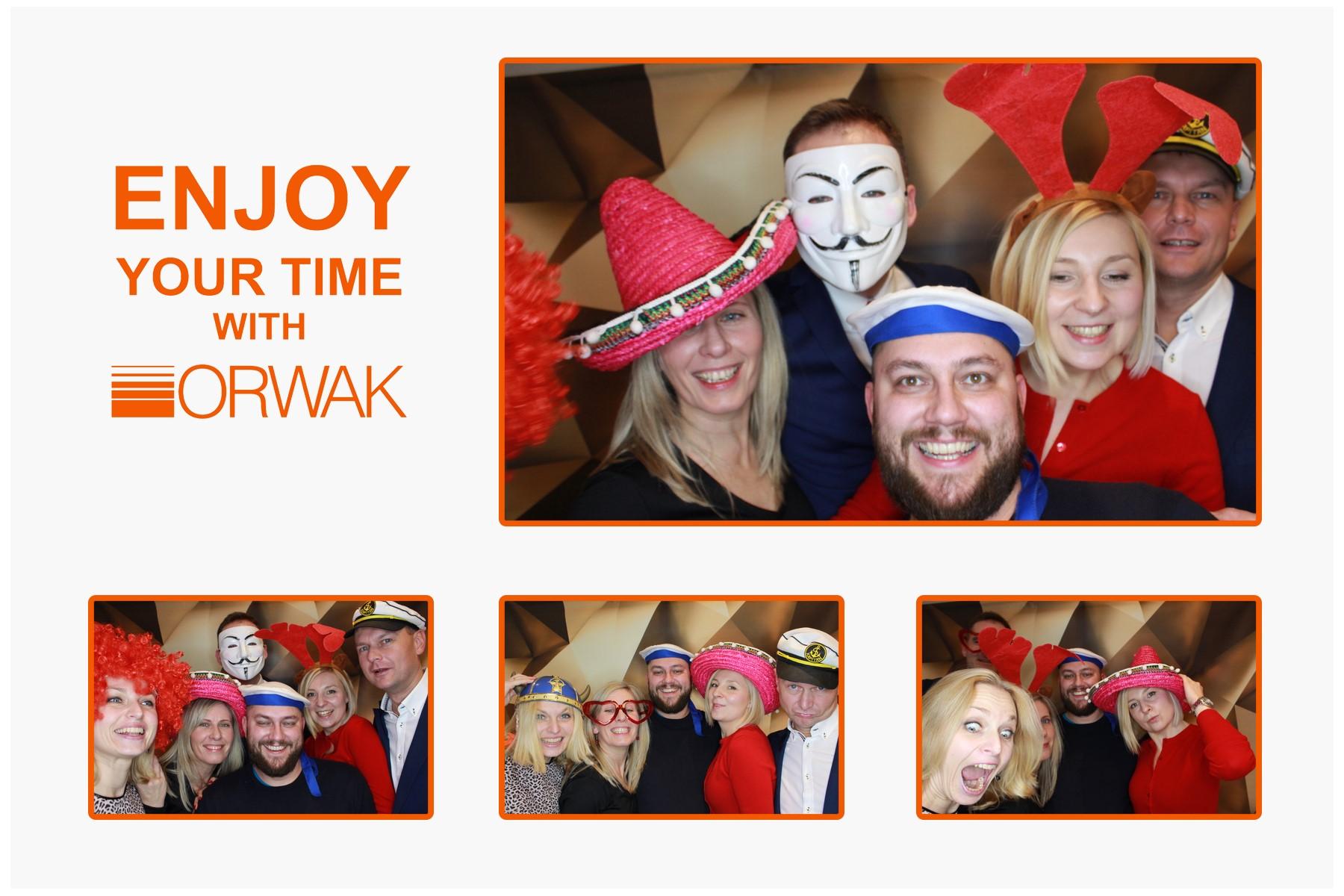 zdjęcie z fotobudki na imprezie firmowej w Warszawie